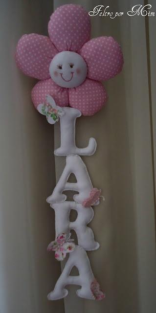 colgante pared o techo: flor para Lara