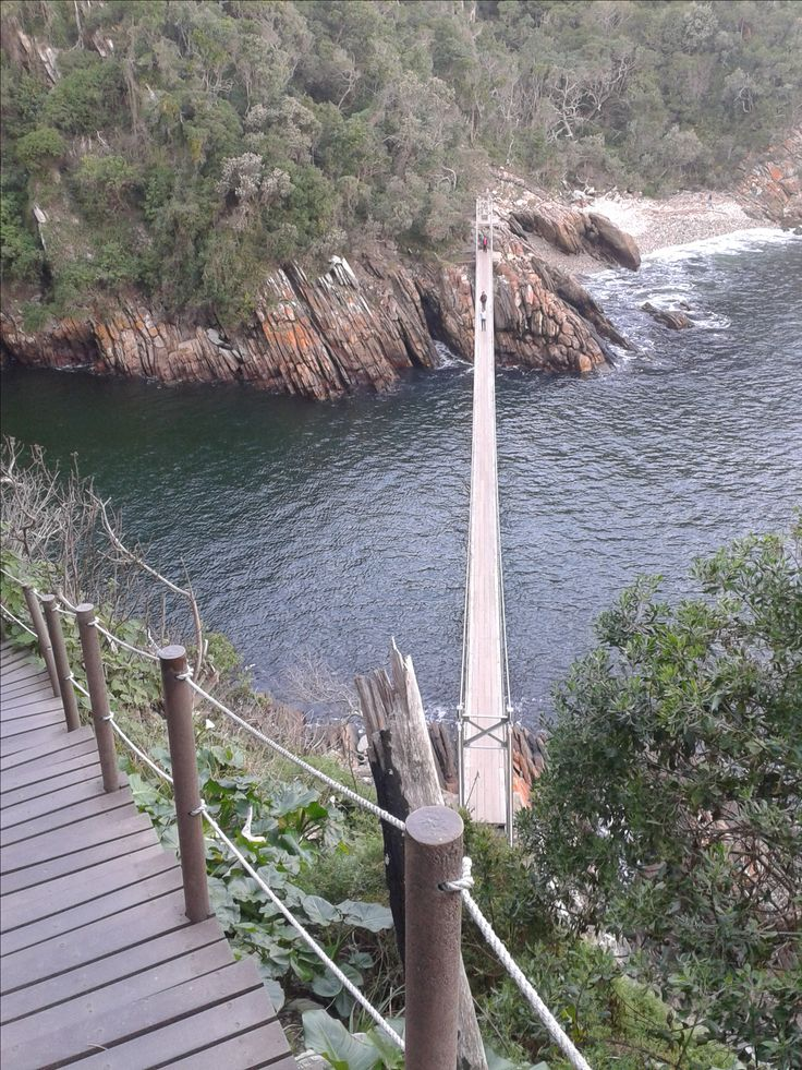 You have to hike this beautiful region. Storms river mouth with suspension bridge | www.africanwellnesstravel.com