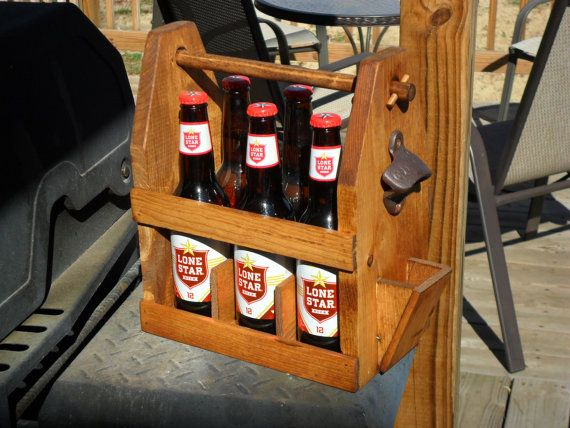 Six Pack Carrier - Beer Bottle Caddy - Home Brew Carrier - Groomsman Gift -  Men's Gifts - Father's Day - Graduation Gift