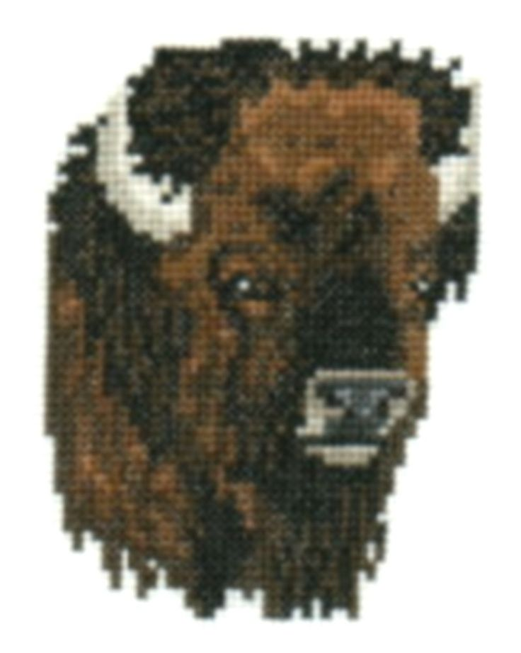 Bison counted cross-stitch chart. $3.00, via Etsy.
