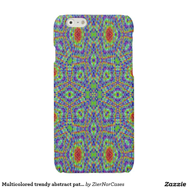 Multicolored trendy abstract pattern glossy iPhone 6 case