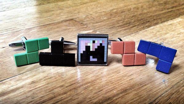 Tetris and Game Cufflink Set