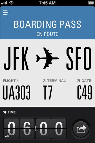 Flight Card Interface