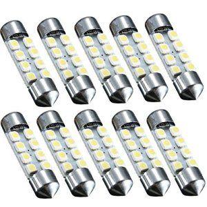 AUDEW 10 X 36MM C5W Dome Festoon 8 LED 3528 SMD Voiture Ampoule Auto Lampe de Porte/Lecture/Intérieur DC 12V (Blanc Pur)
