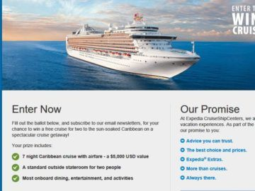 Expedia CruiseShipCenters Dream Vacation Contest