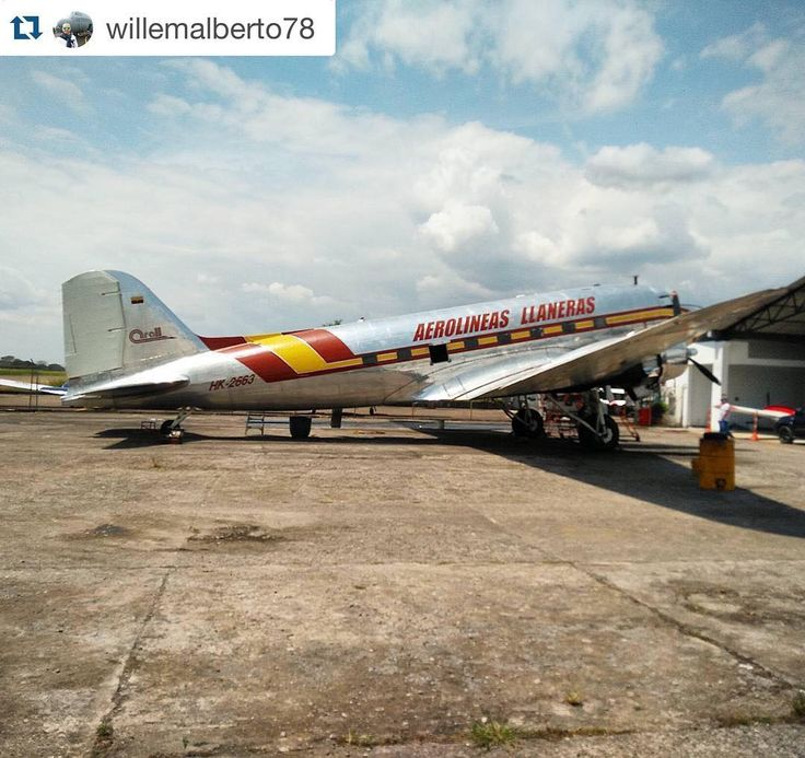 #Repost @willemalberto78  Continue tagging us and mentioning our hashtag #aviaigers for REPOST!!  As always a great feeling to see those historical DC3's doing their job.  February 2016 Arall Aerolineas Llaneras HK-2663 aero #avgeek #planeporn #instaplane #aviation #aviationlife #airplane_lover #instaaviation #instafly #instaplane #pilot #dakota #pilotslife #ig_colombia #instagramaviation #colombianaviation @aerospotters  @colombian_spotting #megaplane #prop #classic #crewlife #DC3…
