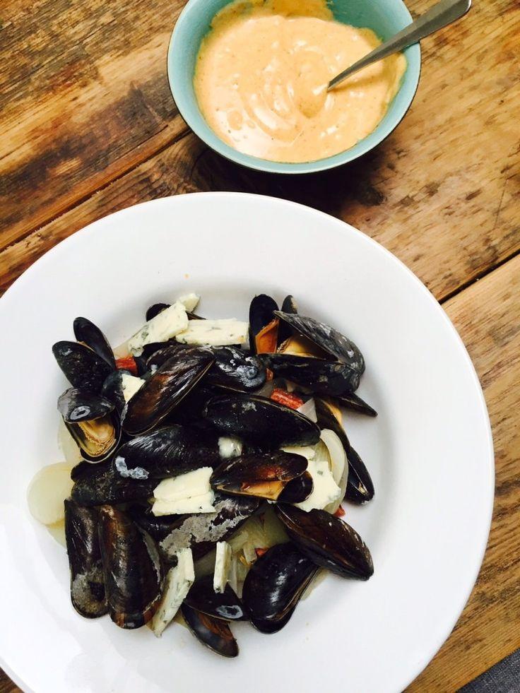 Mosselen recept foodblog Foodinista peer blauwe kaas chorizo