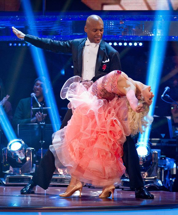 Chris Salmon performs his last foxtrot on 'Strictly Come Dancing'