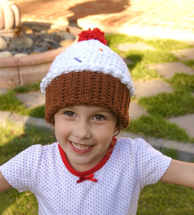 Unique Knitted Cupcake Hat Pattern Free Photo Sewing Pattern Dress