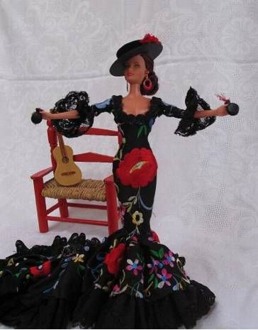 Barbie, en traje de flamenca