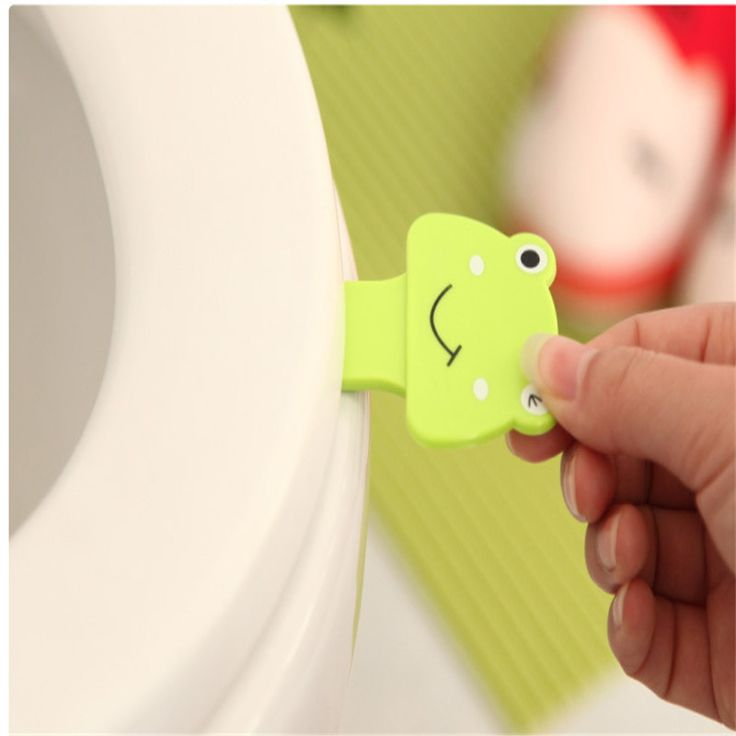 Bath Products Cartoon Toilet Cover Lifting Device Bathroom Toilet Lid Portable Bathroom Toilet Seat Clamshell Holder
