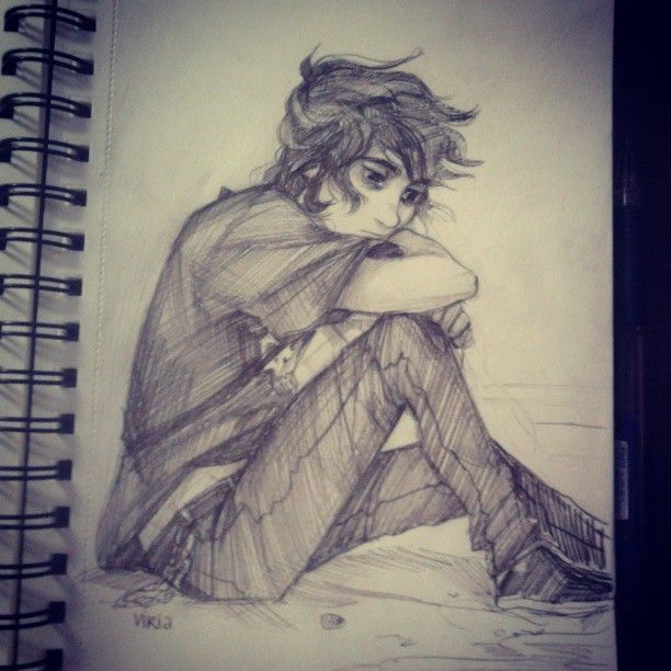 Nico Di Angelo by Viria. I just want to give him a hug.