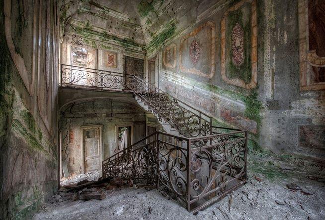 Dutch photographer Niki Feijen, he tours Europe and shoots decrepit, abandoned buildings.