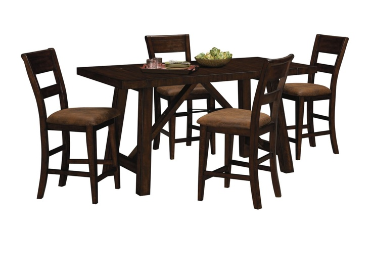 everett counter height table value city furniture for