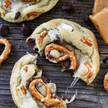 Salted Caramel Pretzel Chocolate Chip Cookies | Two Peas & Their Pod