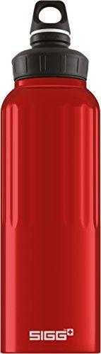 Sigg 1.5 Liter Wide Mouth Bottle, Traveller Red