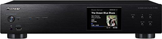 Pioneer N-50A-K Pure Audio Netzwerk-Player (AirPlay, DLNA, Spotify Connect, Internetradio, Aluminium Front, vergoldete Anschluss) schwarz