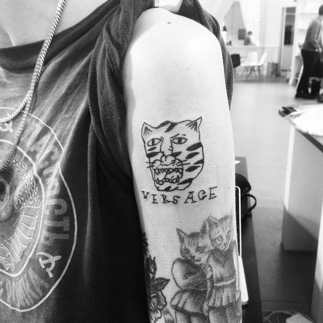 Instagram media by bitchinkworldwide - VERSACE VERSACE VERSACE ✨✨✨#BitchInk #Tattoo #Crackwork #TattooFlash #Versace #Tiger #Flash #Miami #FlashTattoo #Tatovering #Copenhagen #Tatouage #TigerStyle #ItsOkToCry #IDGT #InkNotMink #SaveTheTigers #Silk #Baroque #GianniVersace #DonnatellaVersace
