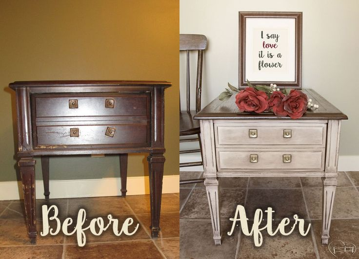 My U201cOh For Goodness Sakeu201d End Table {guest Post}. Furniture RefinishingCountry  ChicEnd ...