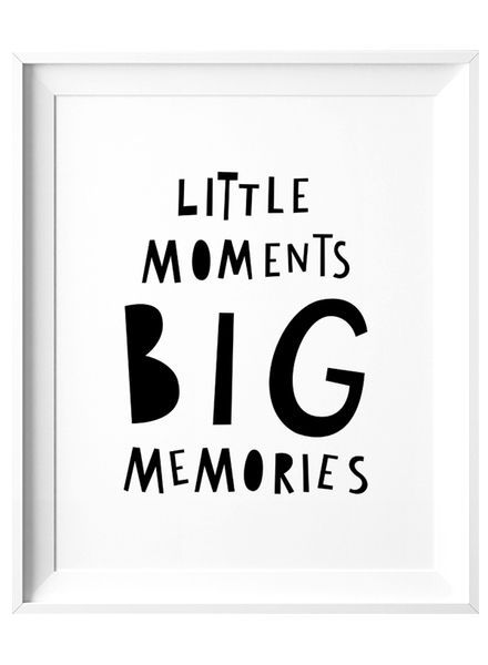 Mini Learners Little Moments Big Memories A3 Poster