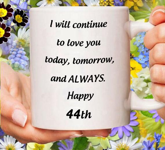 44th Anniversary Gift For Her 44 Years Birthday Gift 44 Yrs Jubilee 44th Wedding Romantic Gifts 44 Year Bday Mug Married For 44 Yr Bday Anniversary Gifts 1st Anniversary Gifts Anniversary Gifts For Wife