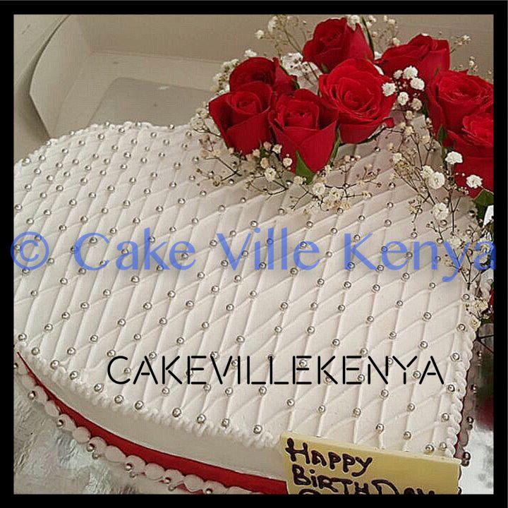 Heart Shaped Vanilla Cake :-)