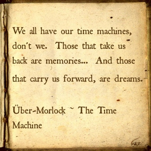 A connection between memories and dreams and real time machines.
