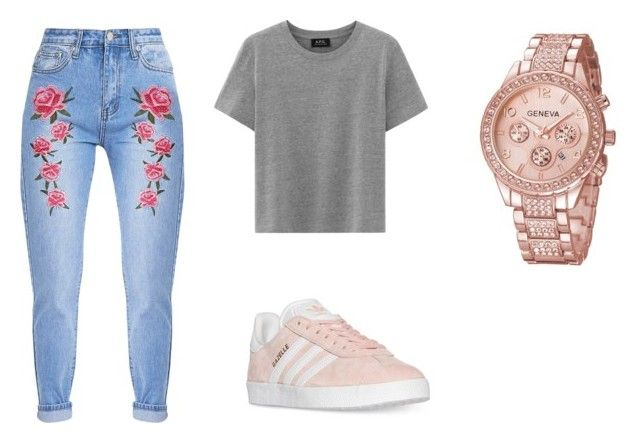 """Casual"" by juanaguzman on Polyvore featuring adidas"