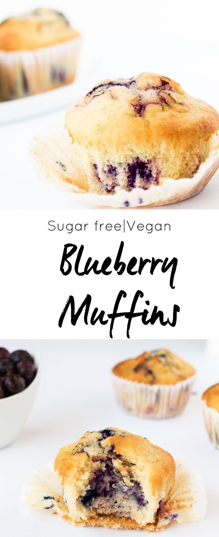 The most delicious soft and fluffy healthy blueberry muffins. Quick and easy to make and with a vegan option. Absolutely delicious.