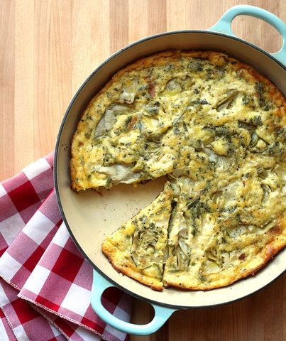 This Artichoke, Rosemary, and Garlic Frittata is the best brunch dish.