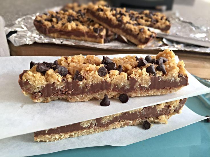 Barras de Avena y Mantequilla de Maní, sin hornear! Deliciosas, el mejor snack!