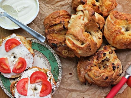 The Cake Hunter: Great British Bake Off Challenge: Cheddar Cheese & Caramelised Onion Bagels