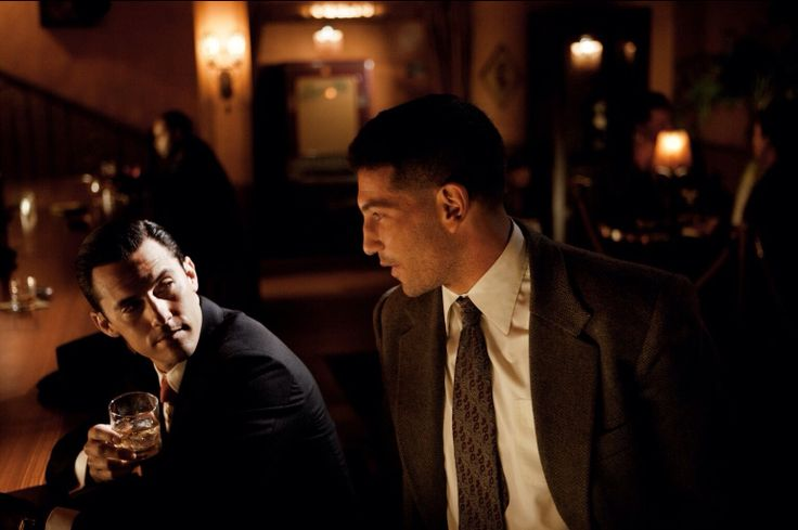 My two favorite men! Milo Ventimiglia and Jon Bernthal in 'Mob City'! - great show