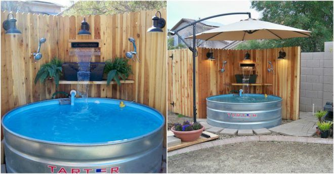 17 best ideas about stock tank pool on pinterest stock tank diy pool and diy swimming pool for Concrete stock tank swimming pool
