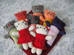 tricot animaux poupees patron   Voici une série de doudous. Les explications sont ici : http ...