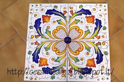 Ceramica che passione: Decorazioni per le mattonelle dipinte a mano