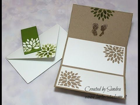 Scrap tutorial:Partecipazioni matrimonio fai da te-Wedding Invitations-Buste envelope punch board - YouTube