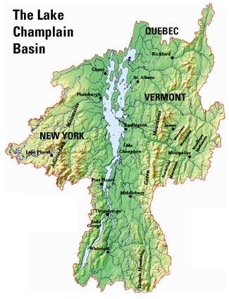 Ideeën Die Je Leuk Zult Vinden Over Lake Champlain Op - Us map lake champlain