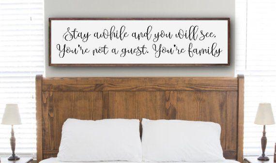 Guest Bedroom Sign Guest Bedroom Decor Large Bedroom Sign