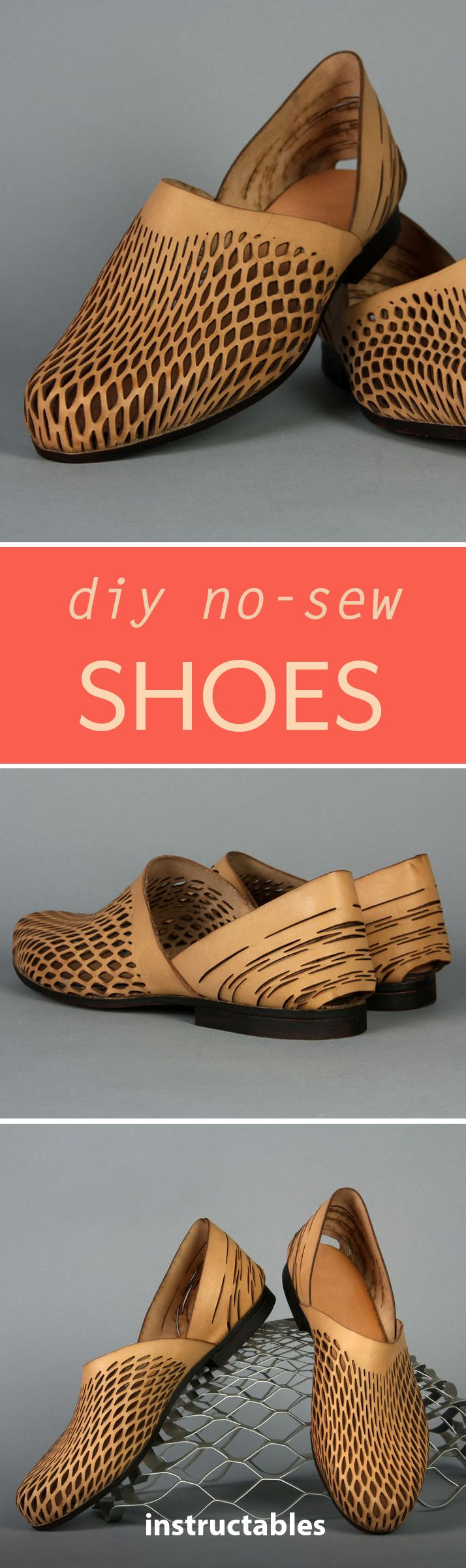 Find out the process to make your very own leather shoes — without using a sewing machine!