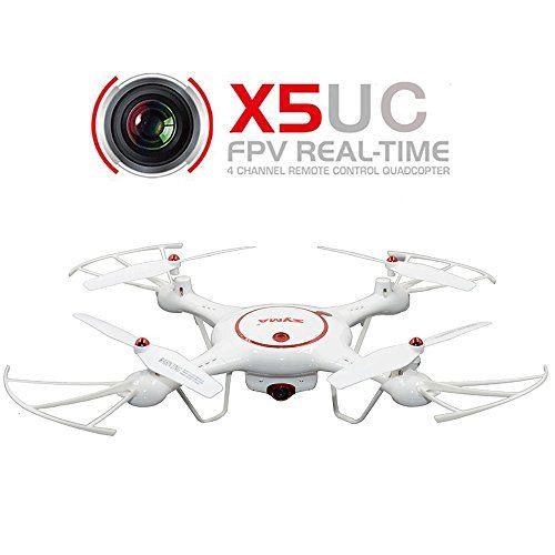 Creation® Syma RC X5UC Drone Quadcopter 2.4G 4 canales 6-Axis Gyro - Pase el ratón Función, Flip Dobles, Modo sin cabeza, la cámara de alta definición, barómetro Establecer Altura-BLANCO - http://www.midronepro.com/producto/creation-syma-rc-x5uc-drone-quadcopter-2-4g-4-canales-6-axis-gyro-pase-el-raton-funcion-flip-dobles-modo-sin-cabeza-la-camara-de-alta-definicion-barometro-establecer-altura-blanco/