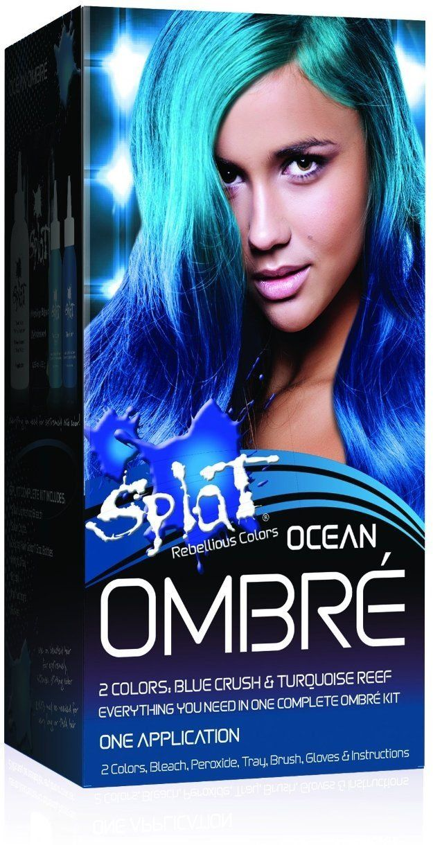 Splat Ombre Ocean Size 1ea Splat Ombre Ocean Check Out The Image By Visiting The Link This Semi Permanent Hair Dye Permanent Blue Hair Dye Splat Hair Dye