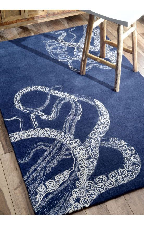 Rugs Usa Sierra Octopus Tail Navy Rug Summer Up To 80 Wool Area