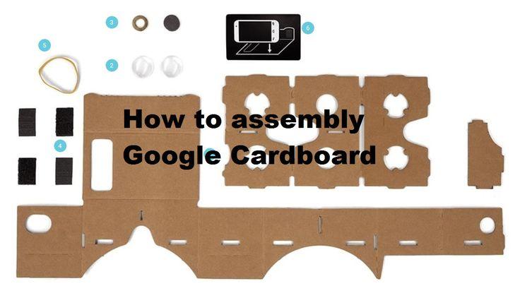 How to assembly Google Cardboard --- Tutorial asamblare Google Cardboard