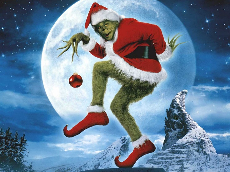 Jim Carrie as the Grinch