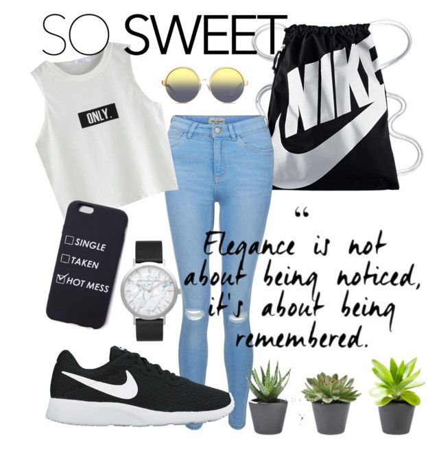 Untitled #44 by natalka-safranekova on Polyvore featuring polyvore fashion style New Look NIKE Elwood Matthew Williamson clothing