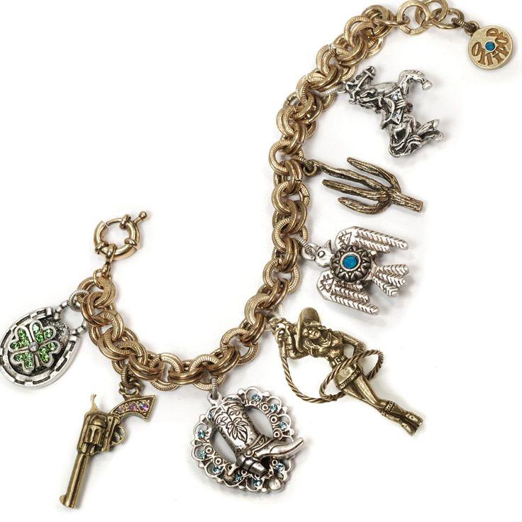 Sweet Romance Country Western Cowgirl Charm Bracelet, Women's