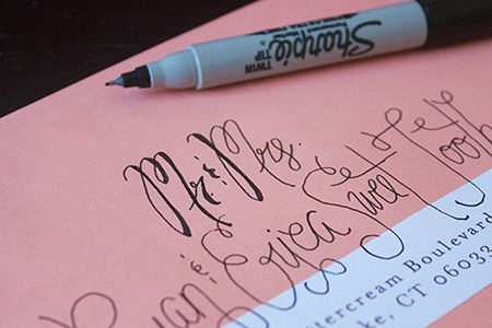 Faux calligraphy tutorial - perfect for wedding invitations!