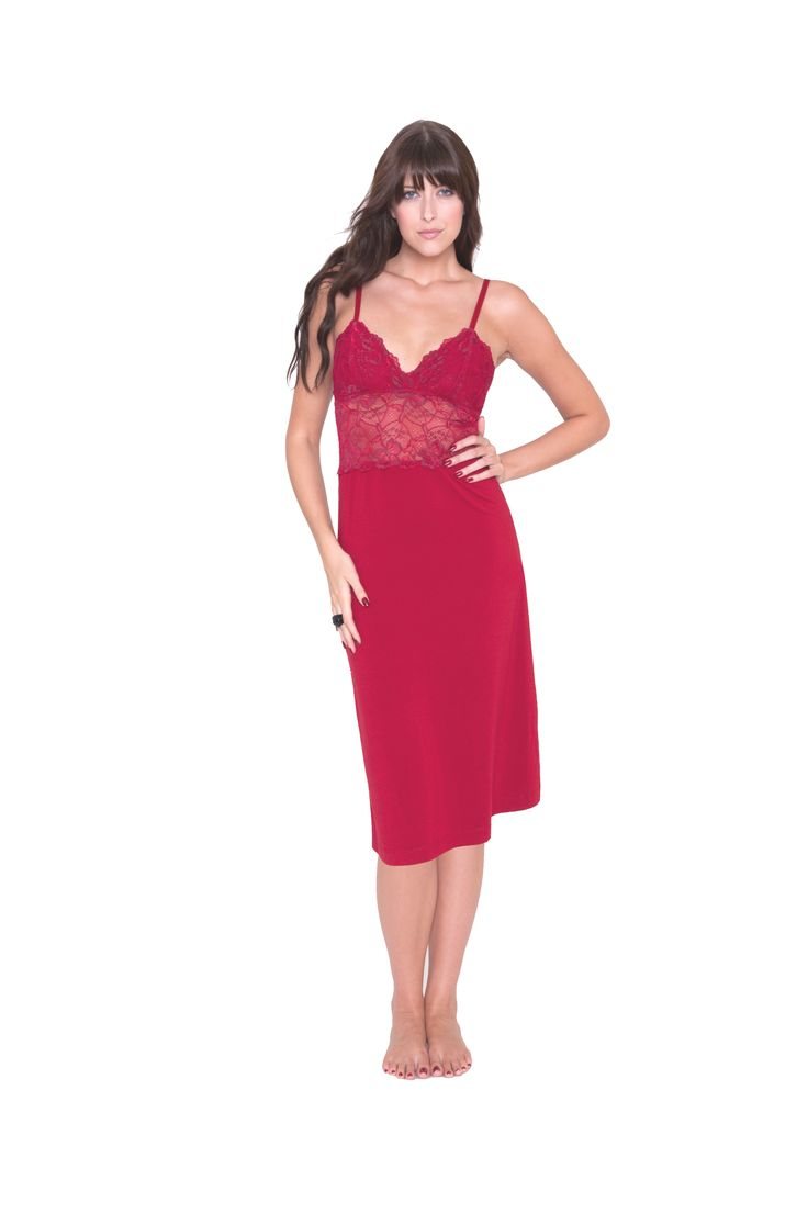 #sexy #pyjamas #chemise #christmas #sexy #lingerie #sleepwear #present #red