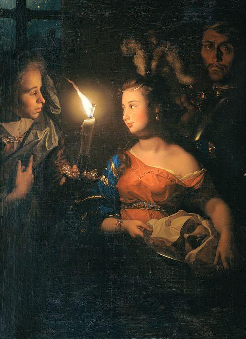 Godfried Schalcken or Gottfried Schalken Salome with the head of Saint John the Baptist c. 1700